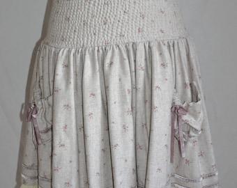 Pretty skirt shabby ruffles you wool flannel