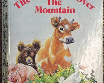 "Cow Went Over the Mountain Little Golden Book Written by Jeanette Krinsley Copyright 1963 ""L"" edition  #304-10 - Golden Book Luv"