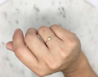 Beautiful Opal 14K Gold Filled Ring-dainty ring-opal ring-stackable ring