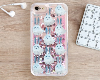 Rabbit Glitter iPhone 7 Case iPhone 6 Case iPhone 7 Plus iPhone 6S Case 6 Plus iPhone 5 Case iPhone Phone Cover iPhone 7S Case SE YZ1101
