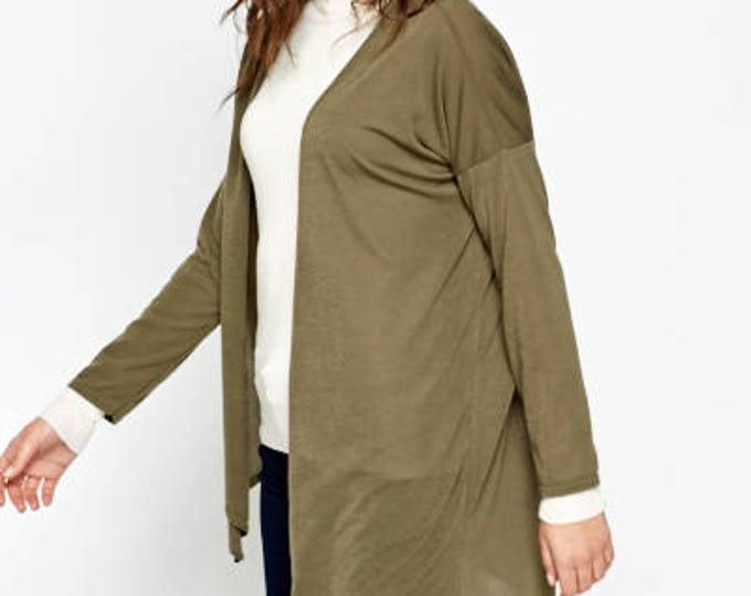 Featured listing image: Olive Asymmetric Cardigan