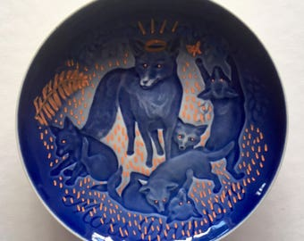 Fantastic mother fox: Redecorated, vintage, mother's day, wall plate from B&G