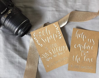 Hand Lettered Instagram Sign