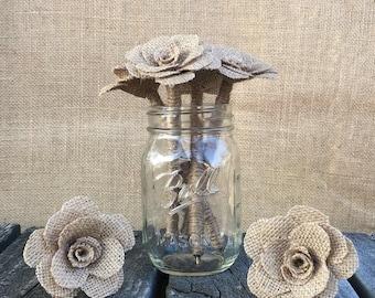 Burlap Flower Pen / Wedding Guest book pen