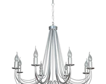 Silver Chandelier - Pendant Lights - Vintage look - Metal Lamp