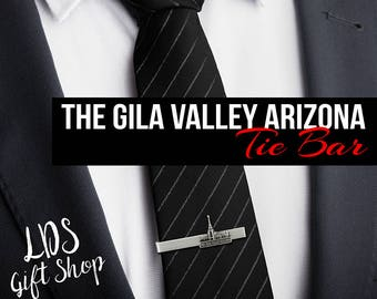 The Gila Valley Arizona Temple Tie Bar Silver or Gold Finish