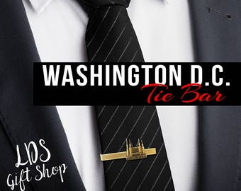 Washington D.C. Temple Silver or Gold Tie Bar