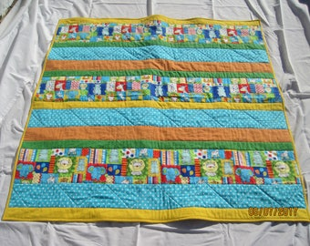 Bright Animals Baby/ Lap Quilt