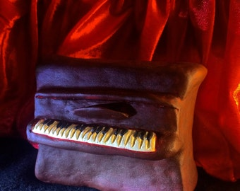 Miniature Red Clay Piano / Small Musical Sculpture / Home Decor / Surreal Handmade / Music Gift / Mini Piano Gift / Gifts for musician