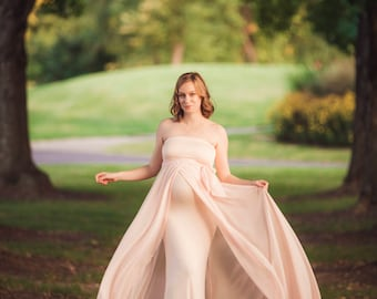 PETAL / Baby Shower Dress / Maternity Photoshoot Gown / Dress For Baby  Shower / Strapless
