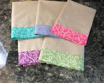 Cloth Napkins, Set of 5 - Rainbow Swirl