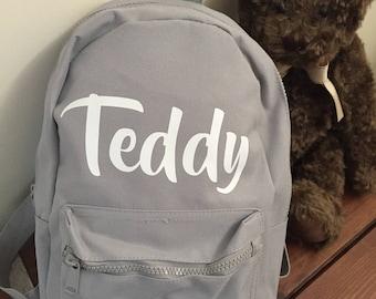 Personalised Mini Backpack - Childs Backpack - Mini Rucksack - Small Bag - Toddler Backpack - Kids Backpacks - School Bag