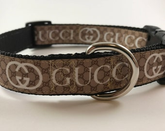 Gucci-Esque Designer Inspired Dog Collar