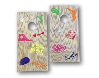 Mini Custom Cornhole Collage Boards| Miniature Corntoss Game | Cornhole Boards | Kids Cornhole boards | Tailgate Game | Reception Game | Tin