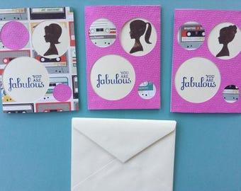 Handmade Cassette Tape Themed Greeting Cards