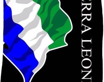 Sierra Leone Custom Flag Fleece Blanket