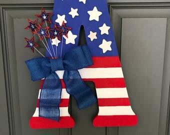 Patriotic Letter Door Hanging