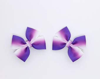 Purple 2 Inch Bows Purple Small Bows Toddler Hair Bow Pigtail Hair Bows Toddler Purple Bows Purple Pigtail Bows Preschool Bows Toddler Clips