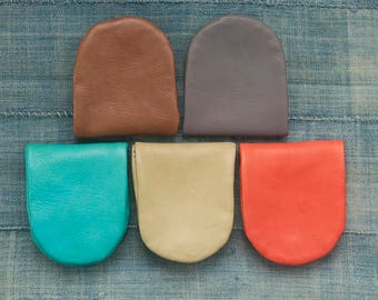 Leather coin purse, Coin Case, Coin Holder, Coin Purse, U-shaped Coin Holder