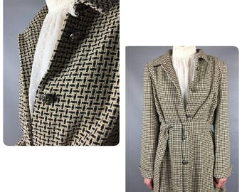 Escada Vintage Coat Medium Women Coat White Black Coat Vintage Escada Women Vintage Coat Women White Coat Escada Coat Black Vintage Coat