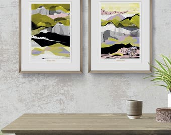 Limited edition prints | Illustration print | Art print | Contemporany Art | Lanscape | Home Decor | Wall ART | Original Artwork
