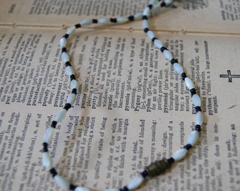 Vintage white and black necklace