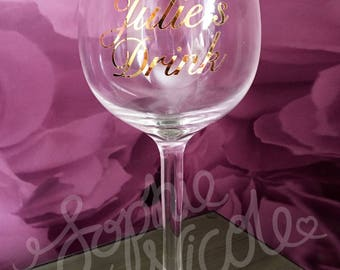 Personalised Wine Glass - *Name's* Drink - Perfect Present/Gift for Birthday, Wedding, Mother's Day etc