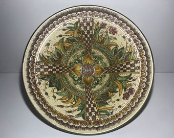 Floral Centerpiece dish-graffiti-Art_1003