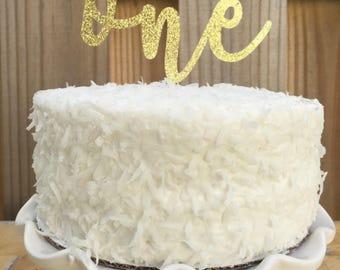 One Cake Topper  First Birthday   Glitter Cake Topper   Gold topper   Cake Topper   Smash Cake topper
