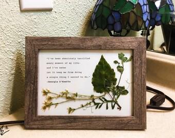 Framed Typewriter Georgia O'Keeffe Quote