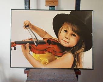 Pastel portrait, Colored portrait