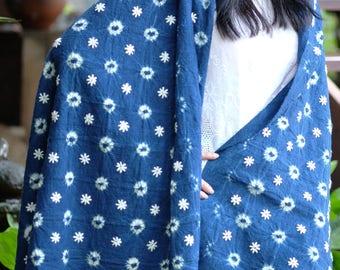 029 - Natural Hand Dyed Indigo Shibori Fabrics by Bio Method