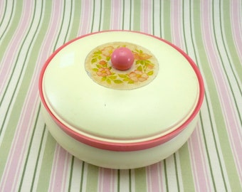 Vintage Avon 'To a Wild Rose' Beauty Dust dish