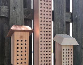 Mason Bee Houses [Set of 3]