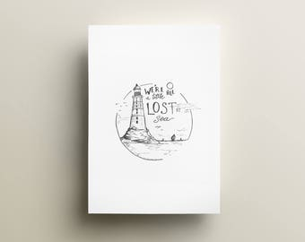Lost at Sea Print 8.5x11 in.