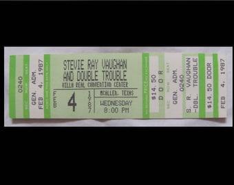 Stevie Ray Vaughan 1987 Live Alive Tour original unused concert ticket McAllen, TX