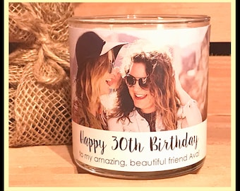 Custom Photo Candle Personalized Photo Candle Birthday Photo Candle Soy Candle Gift Picture Candle Custom Gift Custom Birthday Gift