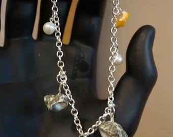 Pearl Anklet with seashells