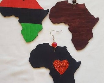 Hand-crafted African Wood Earrings