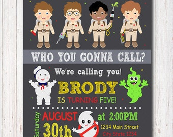 Ghostbusters Birthday Invitation, Ghostbusters Party, Boys Birthday, Printable