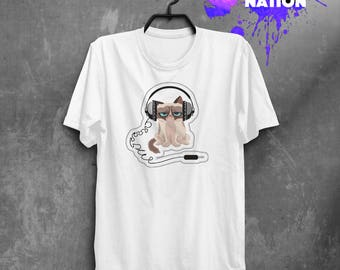 Grumpy Cat Funny Cat Shirt Grumpy Cat Shirt Cat Tshirt Grumpy Cat Tshirt Crazy Cat Lady Cat Lover Gifts Festival Clothing Music Shirt BF1069