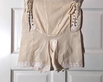 Vintage 1950's Lace up Girdle Corset Panties