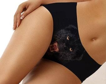 Black Jungle Cat Underwear