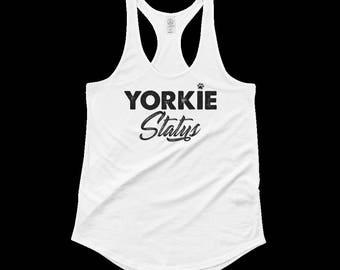 Show Your Status: Yorkie Tank (Black-Distressed)