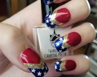 Wonder Woman Press On Nails