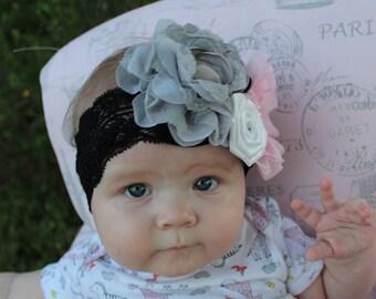 Vintage Floral Baby Headband
