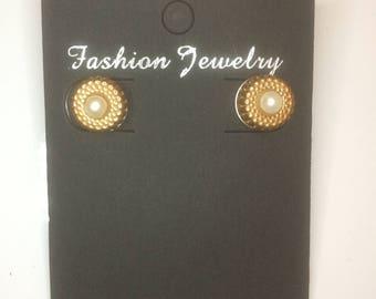 Vintage Imitation Pearl Handmade Earrings