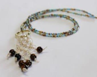 Macrame Beaded Necklace