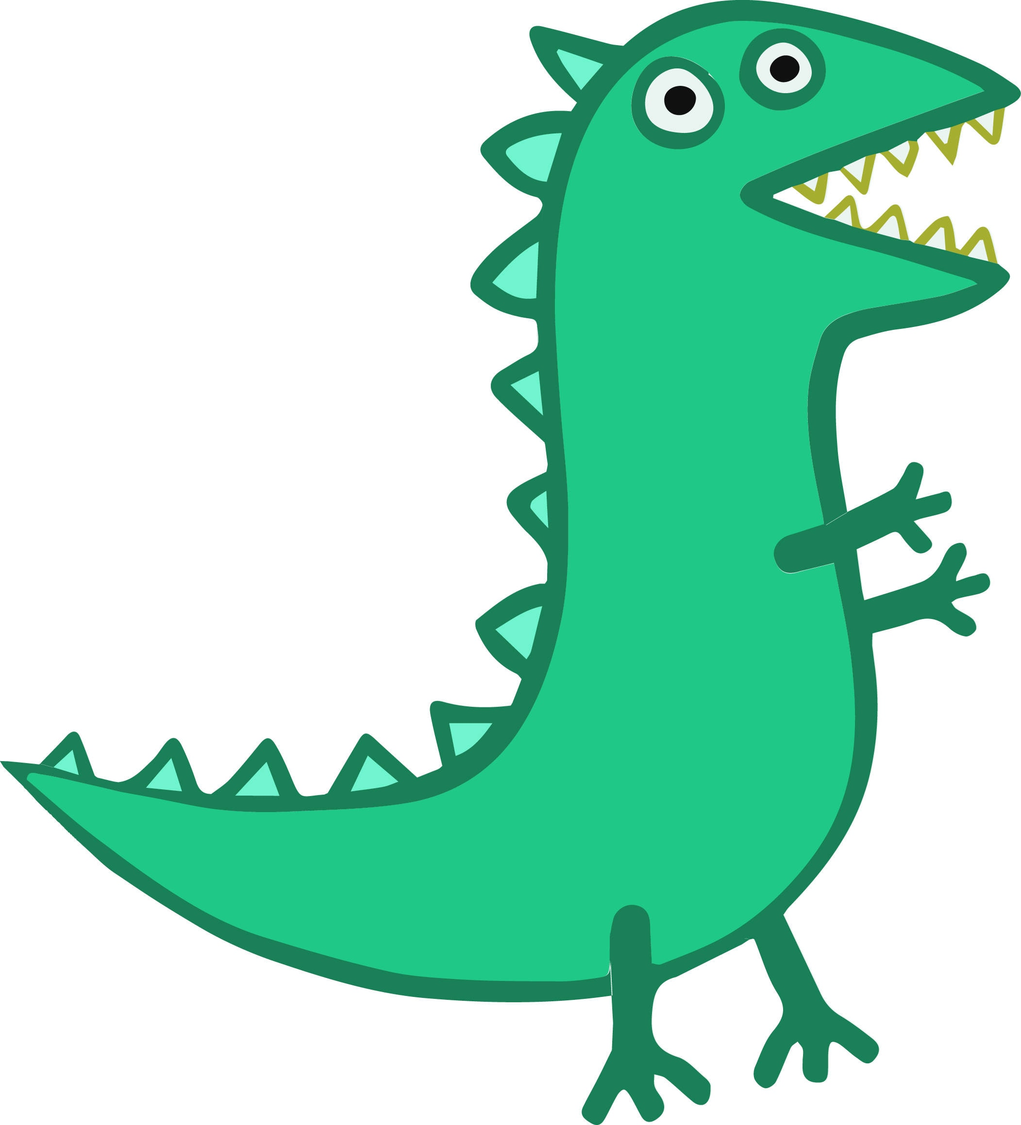 George S Dinosaur Cake Template