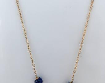 Lapis Bead Chain Necklace